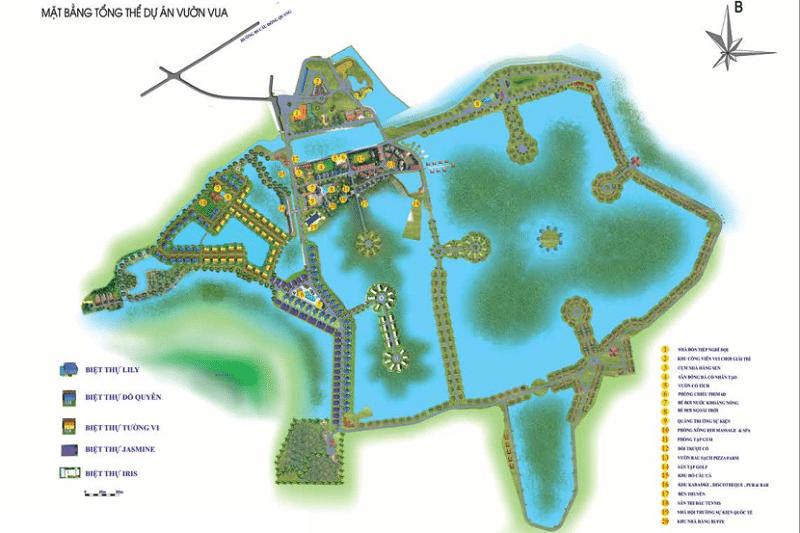 Mặt bằng Tổng thể dự án Vườn Vua Phú Thọ Villas and Resort