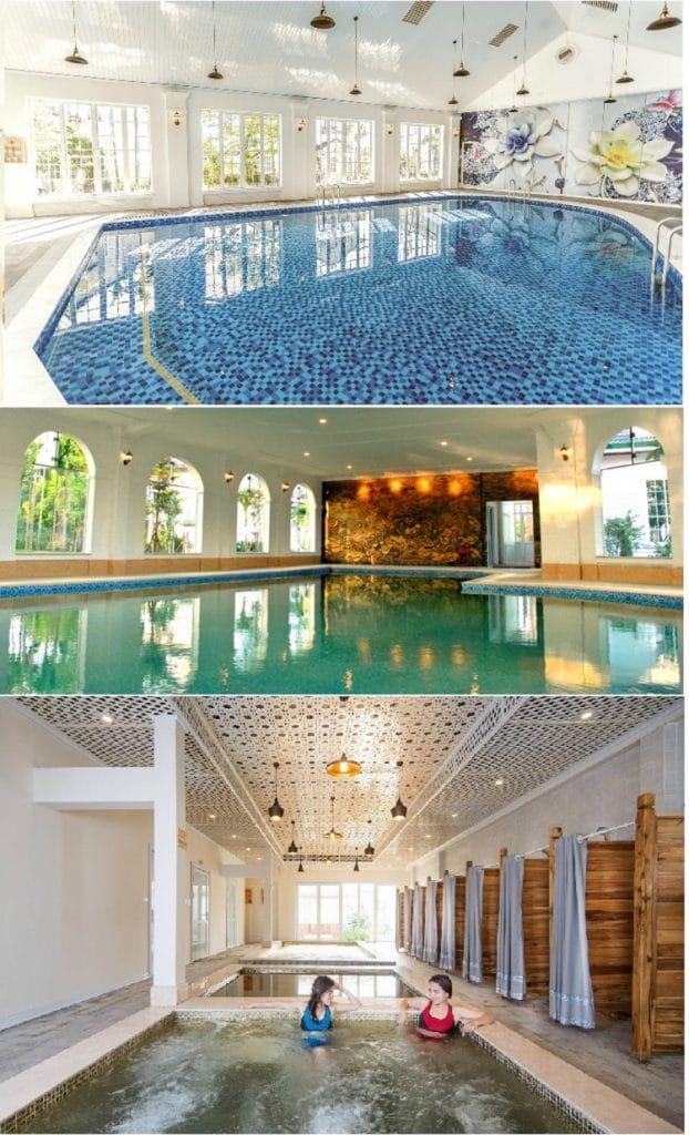Bể tắm khoáng nóng Dự án Vườn Vua Resort Phú Thọ