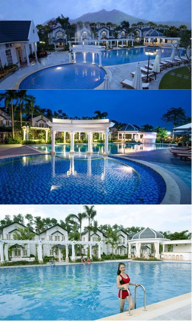 Bể bơi ngoài trời tại Dự án Vườn Vua Resort Phú Thọ
