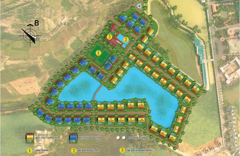 Phối cảnh Làng Việt dự án Vườn Vua Resort and Villas Phú Thọ