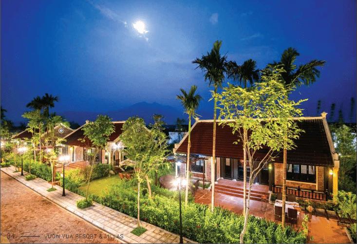 Phối cảnh Biệt thự Tường Vi 1 tầng 2 phòng ngủ dự án Vườn Vua Resort Phú Thọ