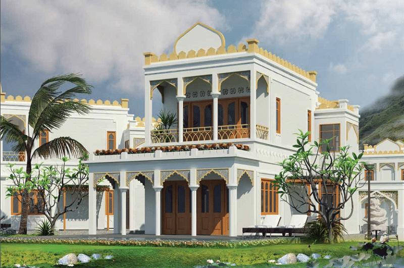 Phối cảnh Biệt thự Iris 2 tầng 3 phòng ngủ dự án Vườn Vua Resort Phú Thọ