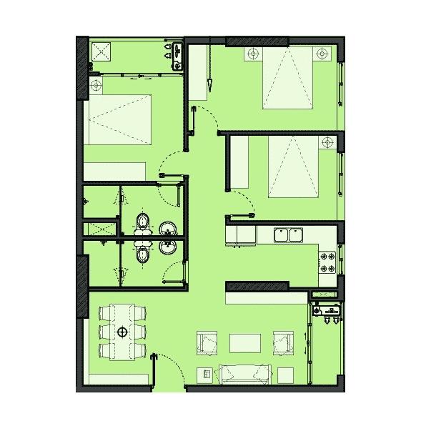 Căn hộ 32 phòng ngủ Dự án The Park Home - Handico 52