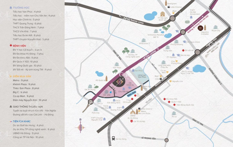 Vị trí tọa độ Vàng Dự án Chung cư Goldsilk City Tố Hữu – Hà Đông