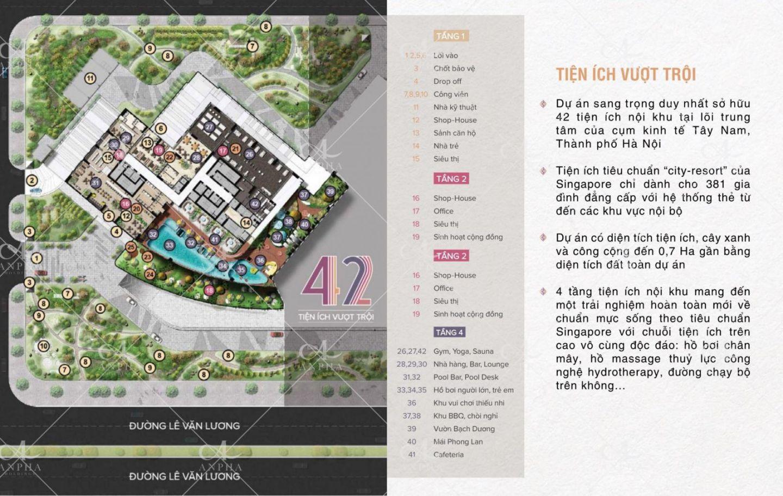 Chuỗi 42 Tiện ích cao cấp Dự án D'Gold Goldsilk City Dự án Chung cư Goldsilk City Tố Hữu
