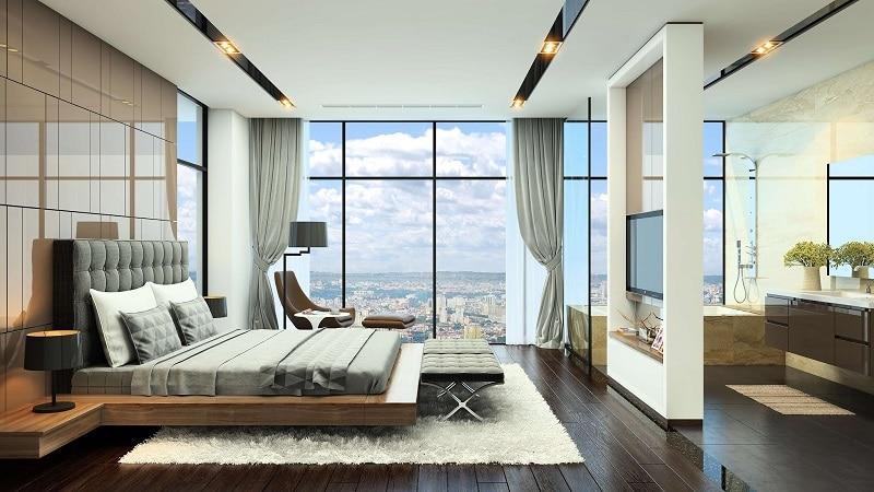 Phòng ngủ master room Dự án Chung cư Grandeur Palace Phạm Hùng