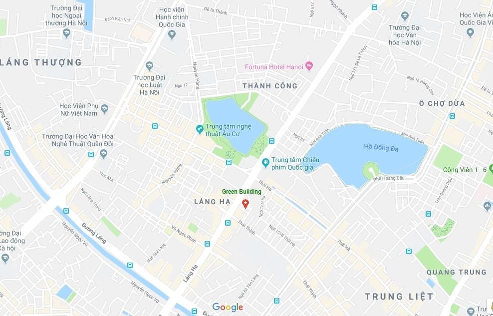 Vị trí đắc địa Kim Cương dự án chung cư Green Building 93 Láng Hạ