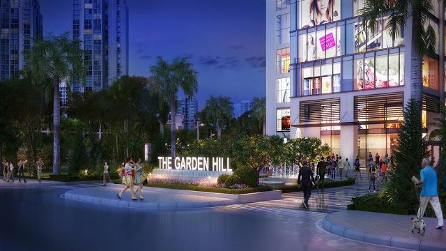 Cổng vào sảnh cư dân Dự án The Garden Hill 99 Trần Bình