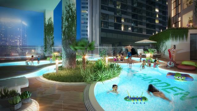 Bể bơi ngoài trời Dự án Chung cư The Garden Hill 99 Trần Bình