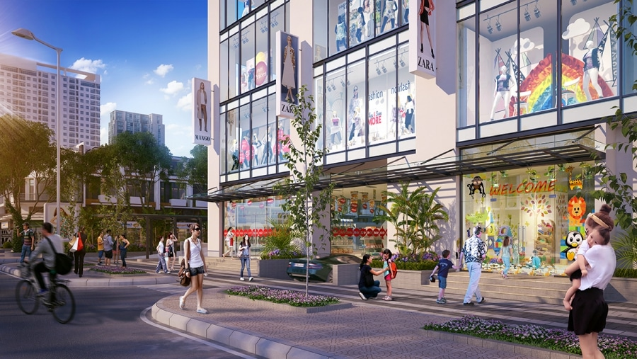 Trung tâm thương mại tại tầng đế Dự án Chung cư The Garden Hill 99 Trần Bình