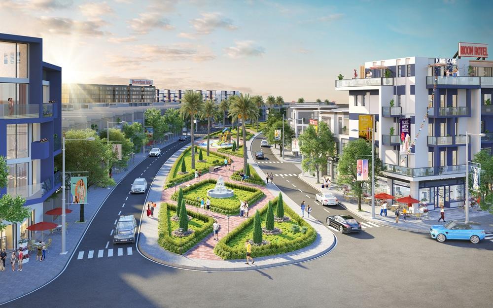 Tuyến phố thương mại sầm uất trong Nhơn Hội New City