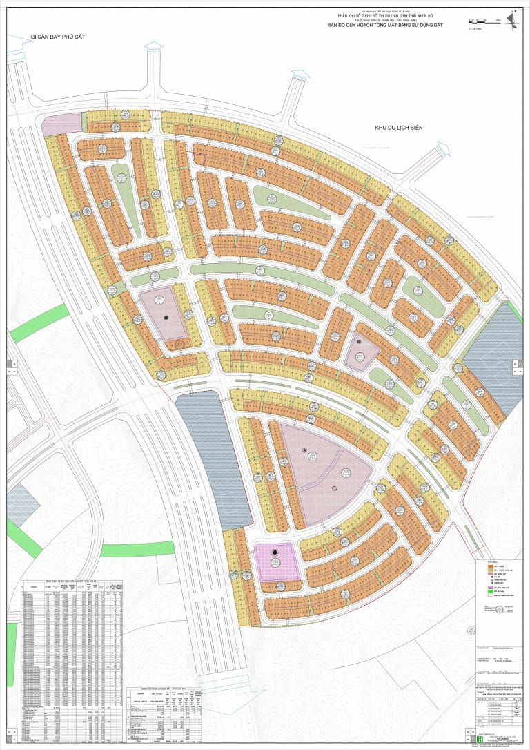 Mặt bằng phân lô Dự án Đất nền Nhơn Hội New City Quy Nhơn