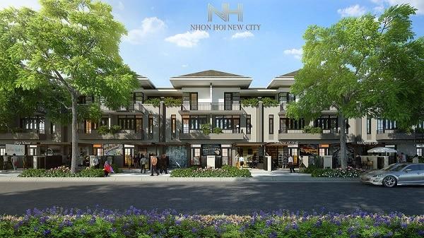 Liền kề ghép lô Nhơn Hội New City