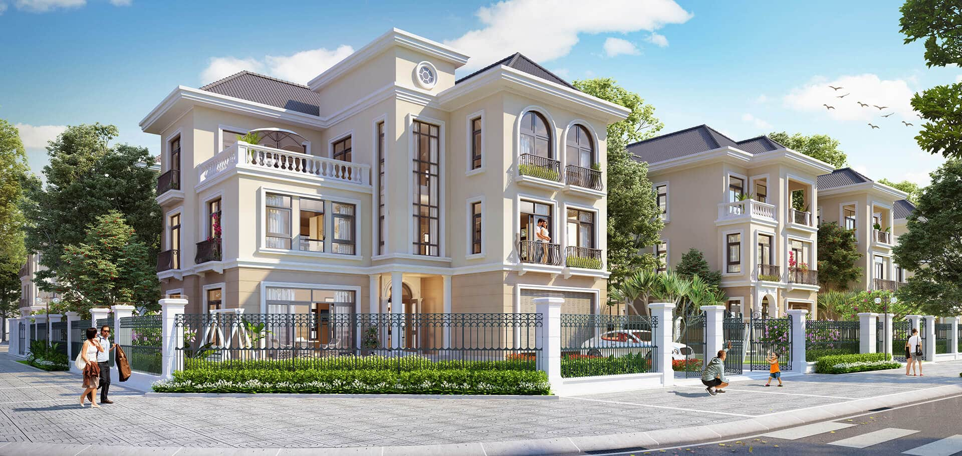 Tham khảo thiết kế Biệt thự Dự án Quảng Tâm Quảng Phú