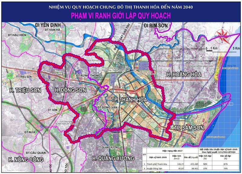Quy hoạch phát triển không gian TP Thanh Hóa đến năm 2040