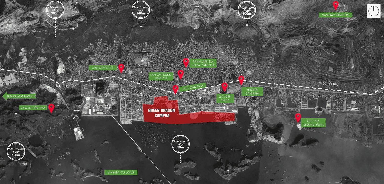 Green Dragon TPP Cẩm Phả sở hữu tọa độ Trung tâm bao Vịnh