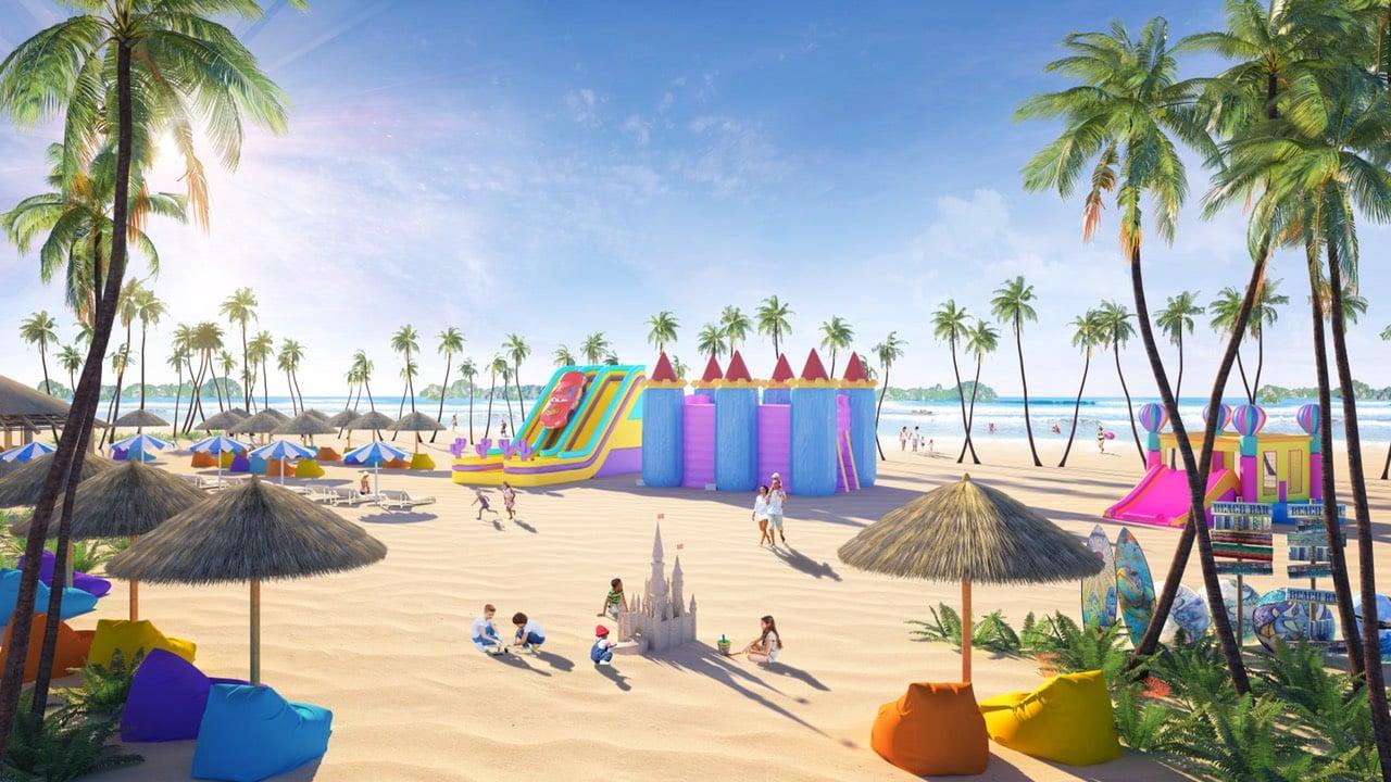 Bãi tắm 1km nơi diễn ra những hoạt động vui chơi, du lịch ngoài trời
