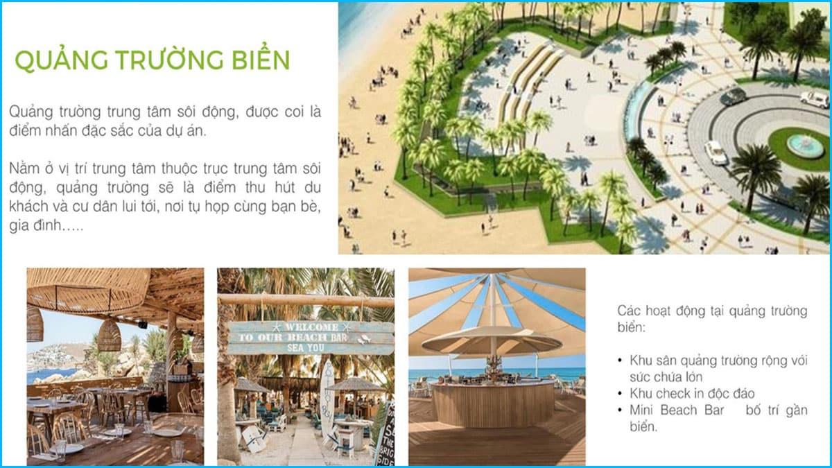 Quảng trường biển - trái tim Khu đô thị Green Dragon TTP Cẩm Phả