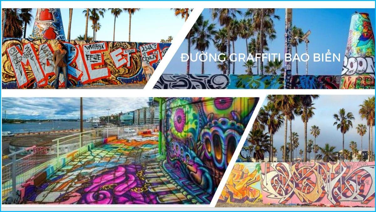 Đường Graffiti bao biển - Nghệ thuật đương đại thăng hoa