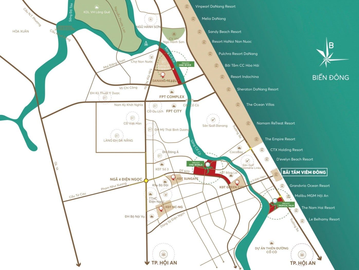 Vị trí Trung tâm, tựa Sông hướng Biển dự án One World Regency