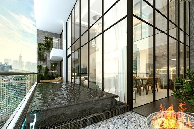 Bể bơi trong căn hộ Penthouse Dự án Sunshine Empire Ciputra Nam Thăng Long