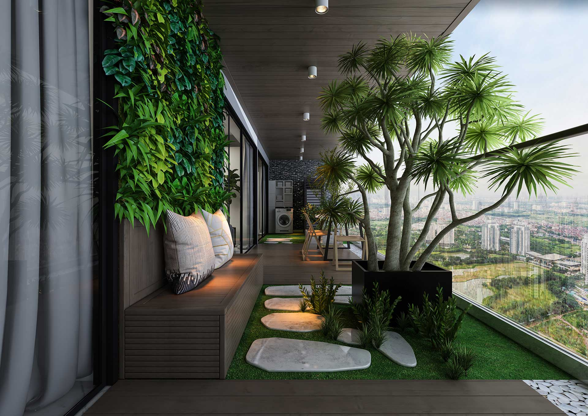 Sân vườn Biệt thự Sky Villas Dự án Sunshine Empire Ciputra Nam Thăng Long