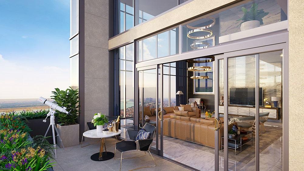 Penthouse thông tầng The Matrix One sở hữu tầm view vượt trội