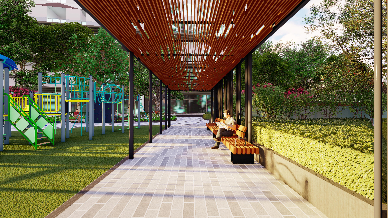 Đường dạo bộ thiết kế hoàn hảo phục vụ nhu cầu thư giãn của cư dân