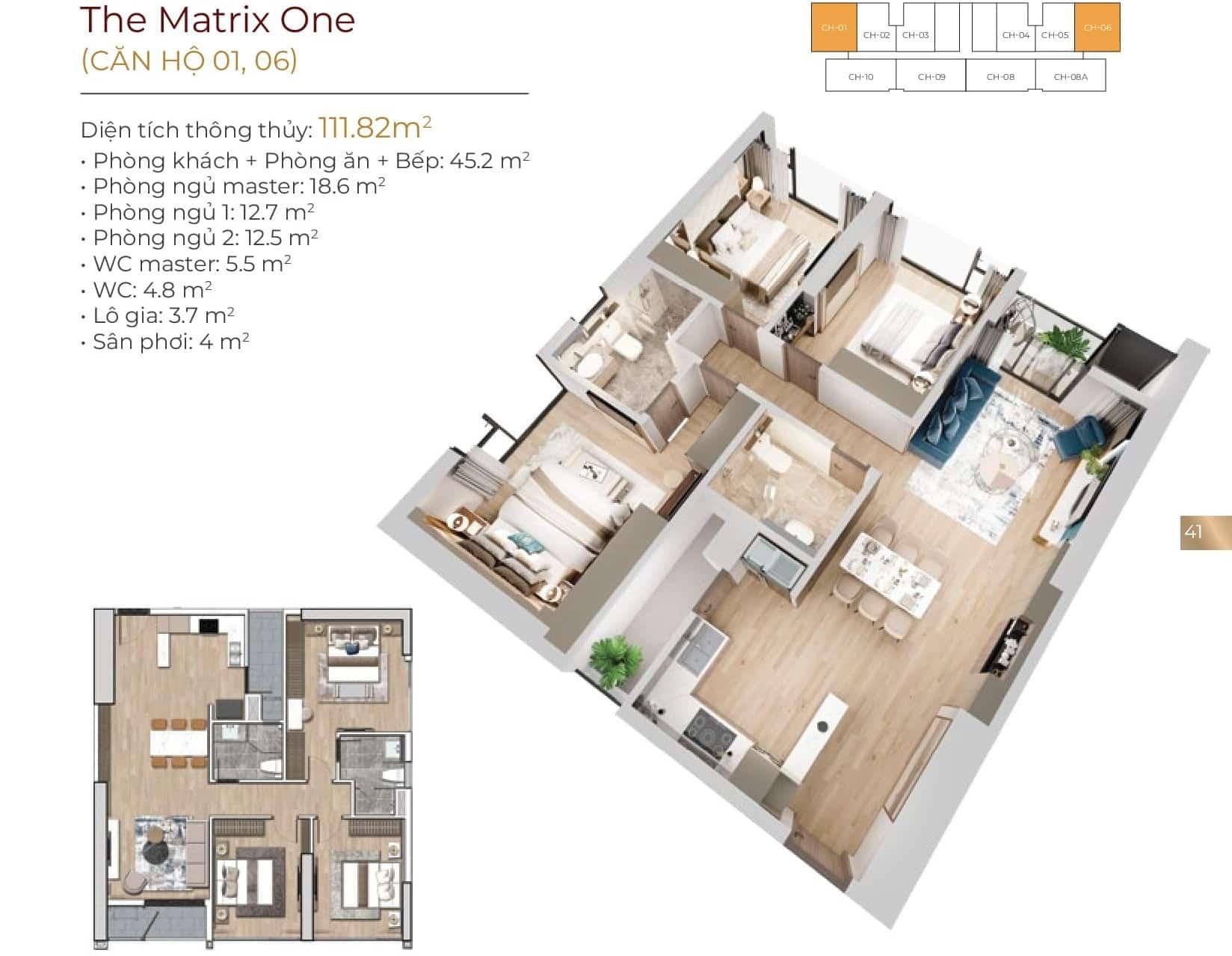 Thiết kế căn hộ 01, 06