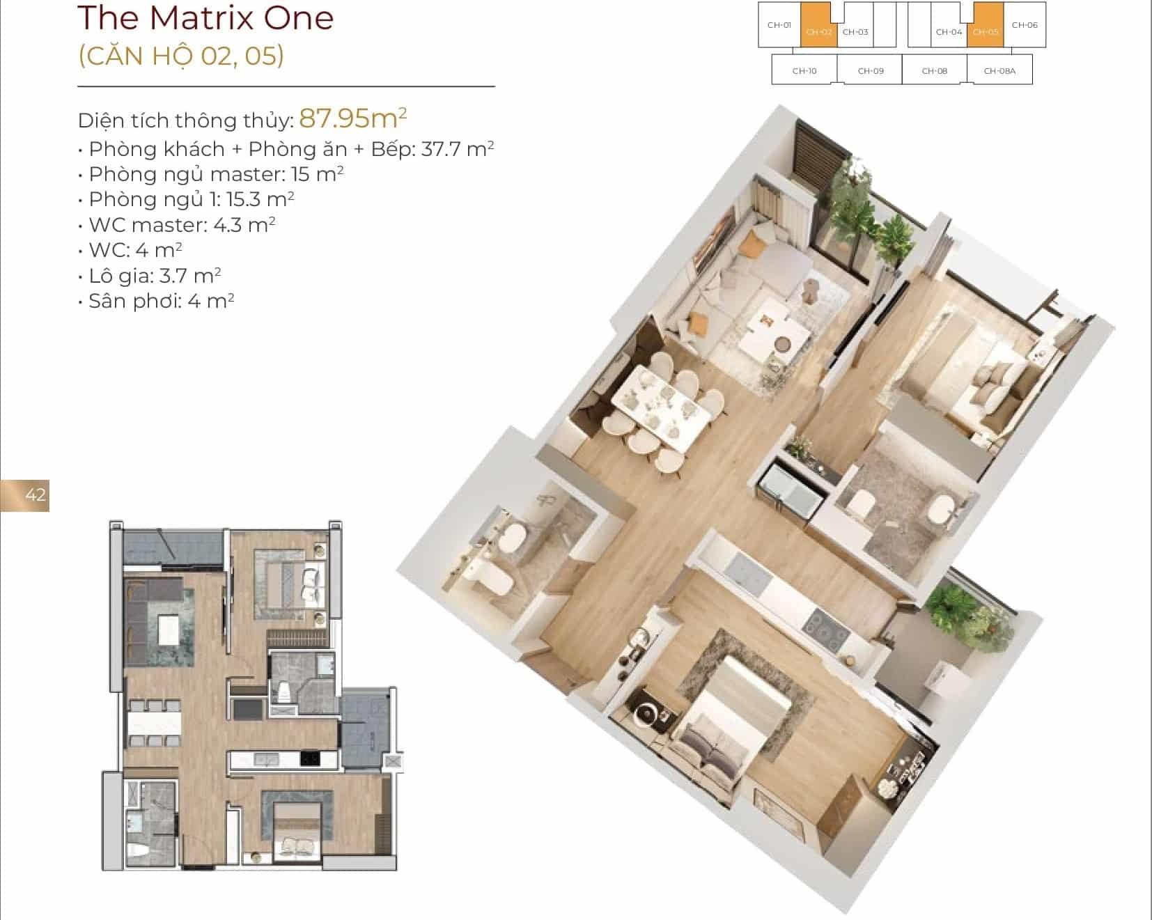 Thiết kế căn hộ 02, 05