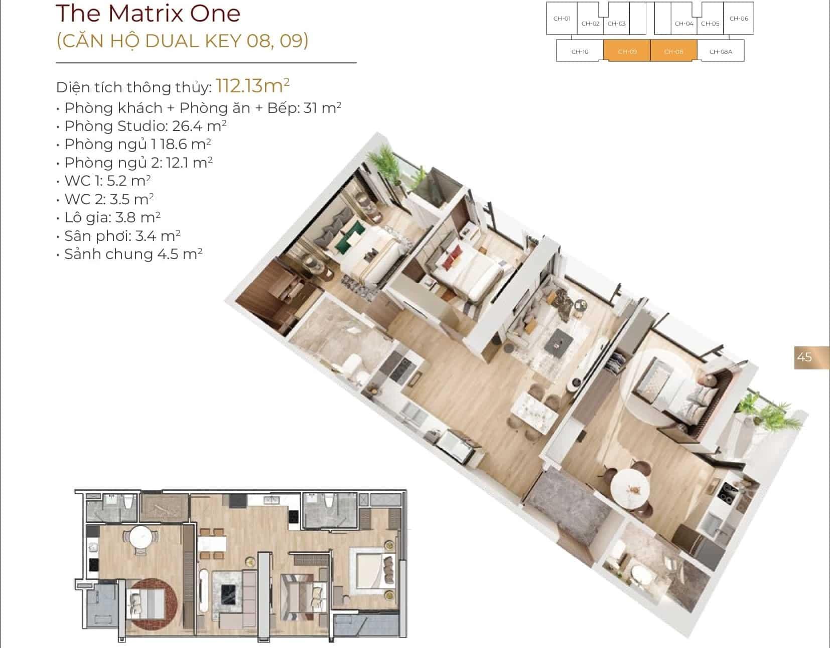 Thiết kế căn hộ Dual Key 08, 09