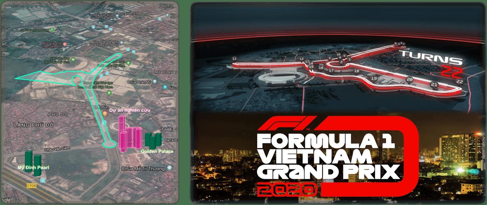 The Matrix One sở hữu vị trí giao lộ Vàng view trường đua F1 Mỹ Đình
