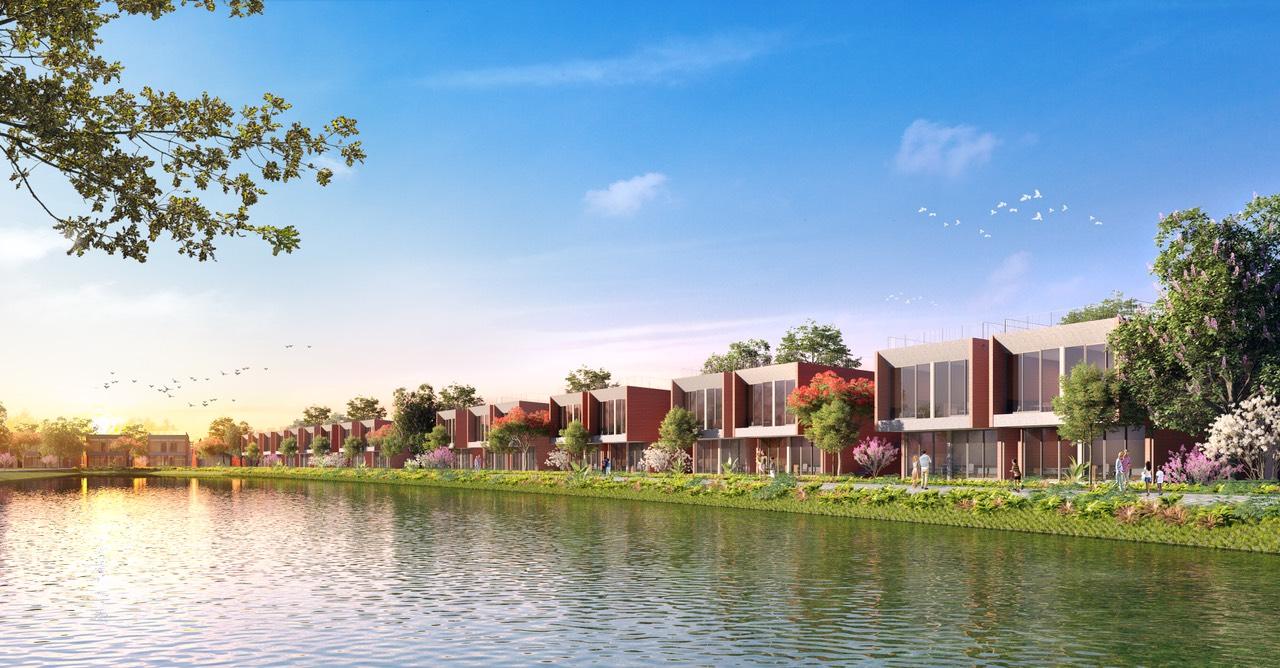 Biệt thự Vedana Cúc Phương Resort thiết kế 2 tầng view hồ điều hòa trực diện