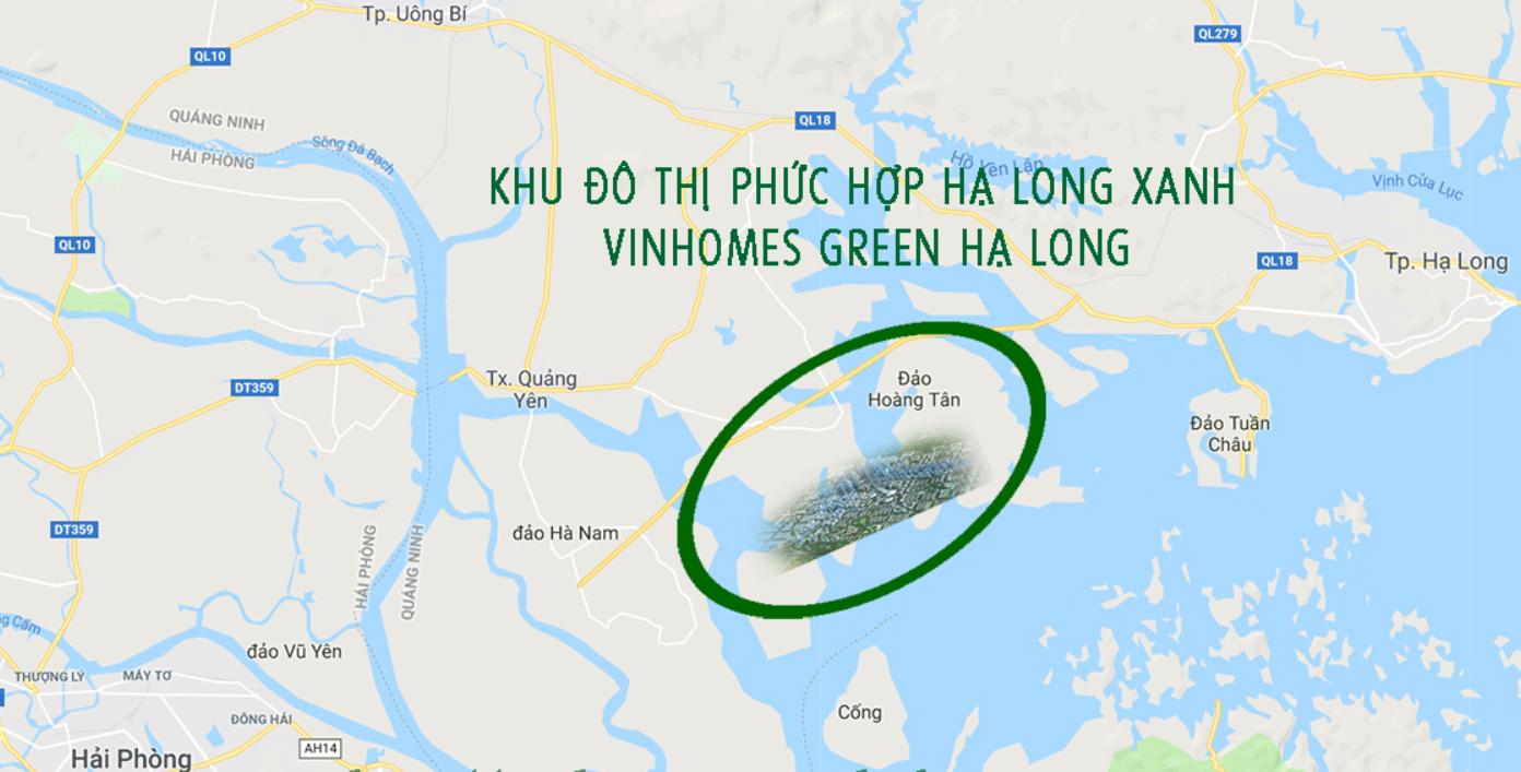 Vị trí Dự án KĐT Vinhomes Green Hạ Long Xanh