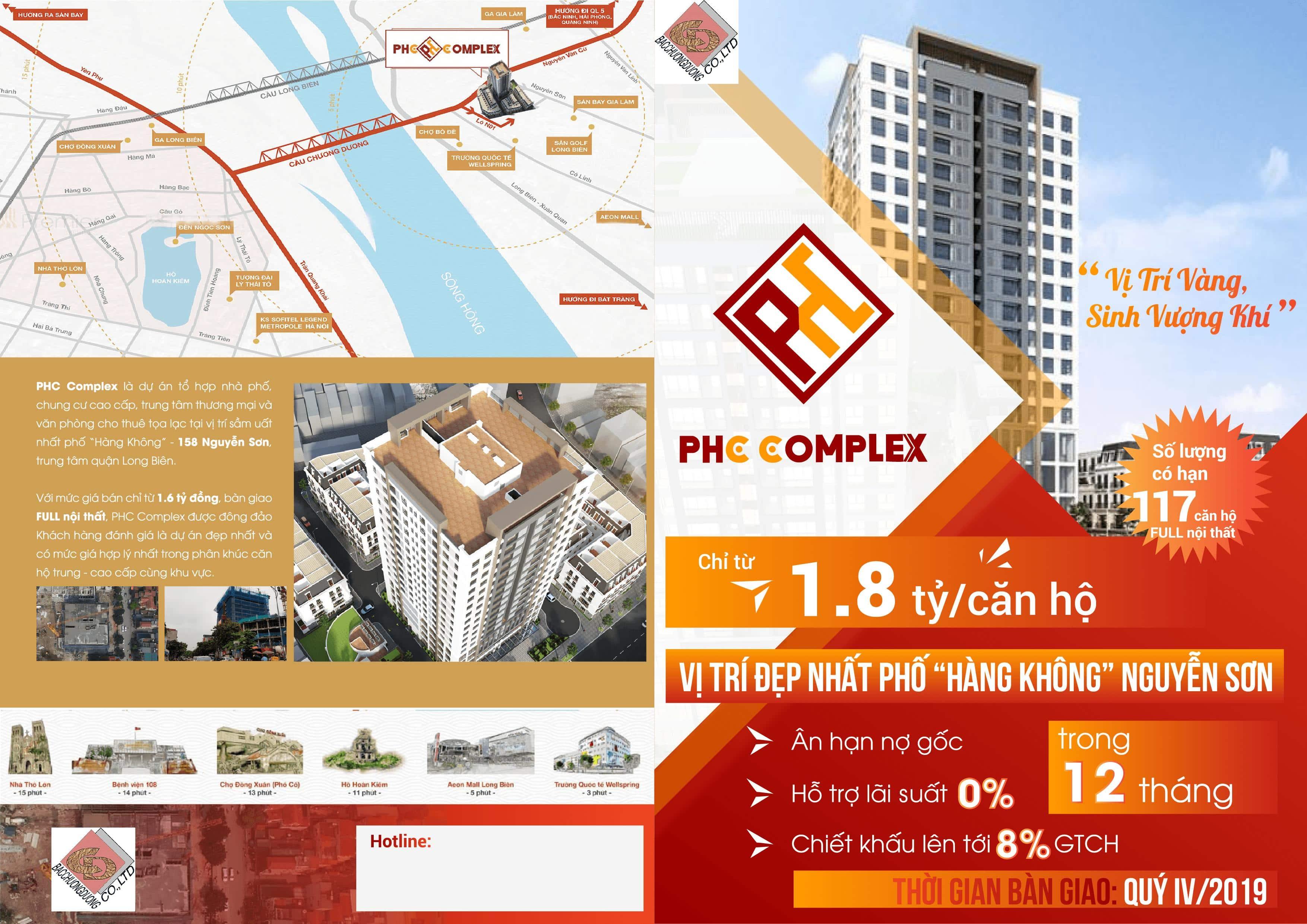 Chính sách bán hàng cực tốt Dự án PHC Complex Nguyễn Sơn