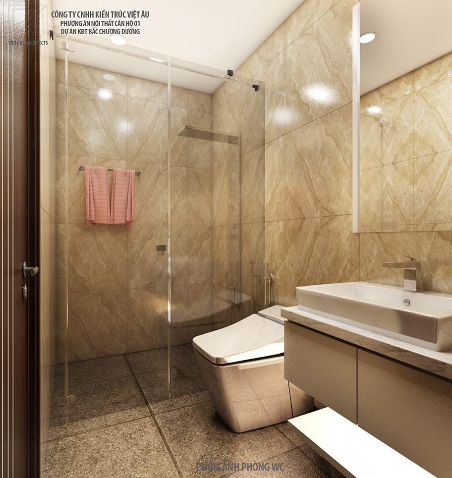 Nội thất phòng tắm Chung cư PHC Complex 158 Nguyễn Sơn