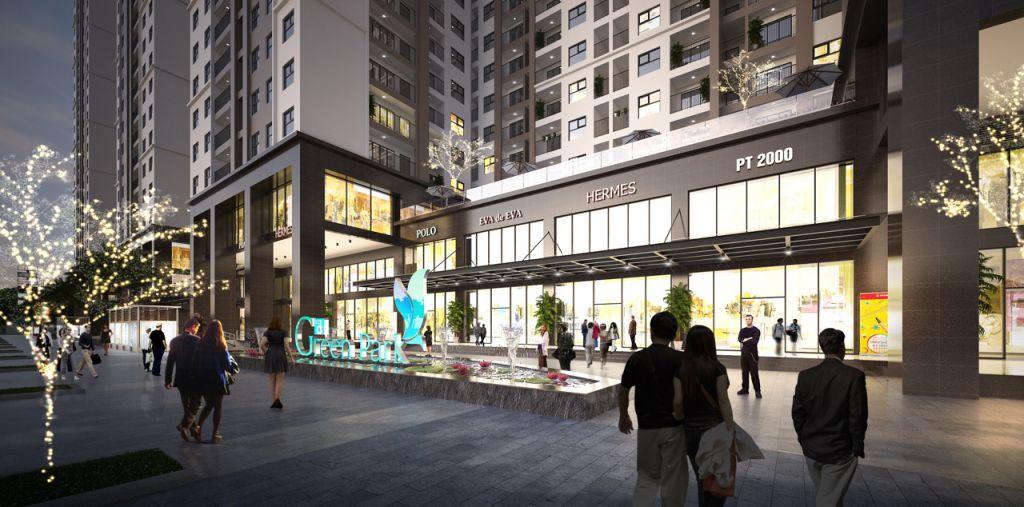 Trung tâm thương mại chân đế Phương Đông Green Park