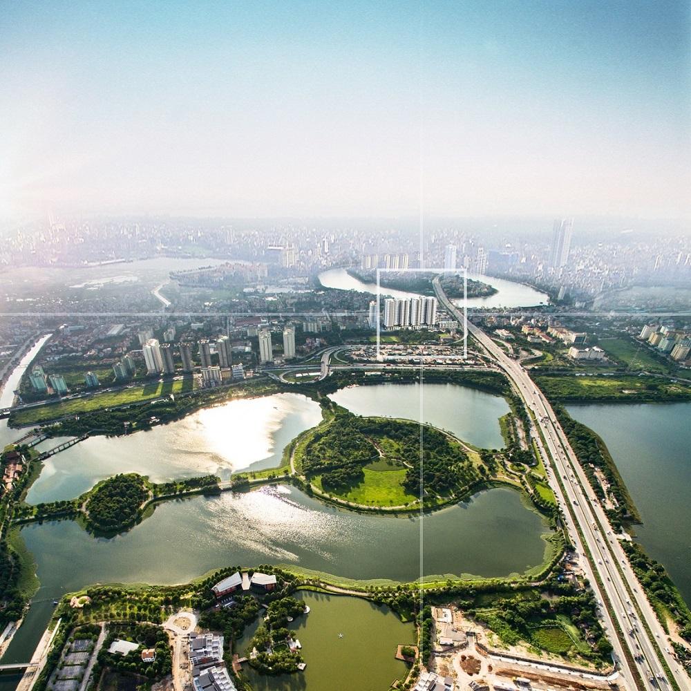 Phương Đông Green Park bao bọc bởi không gian Xanh, Hồ nước lớn