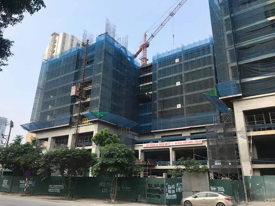 Cập nhật tiến độ thi công 22/4/2020 đổ bê tông tầng 12 tòa B1 và B2, đổ bê tông tầng 10 tòa A1 và A2