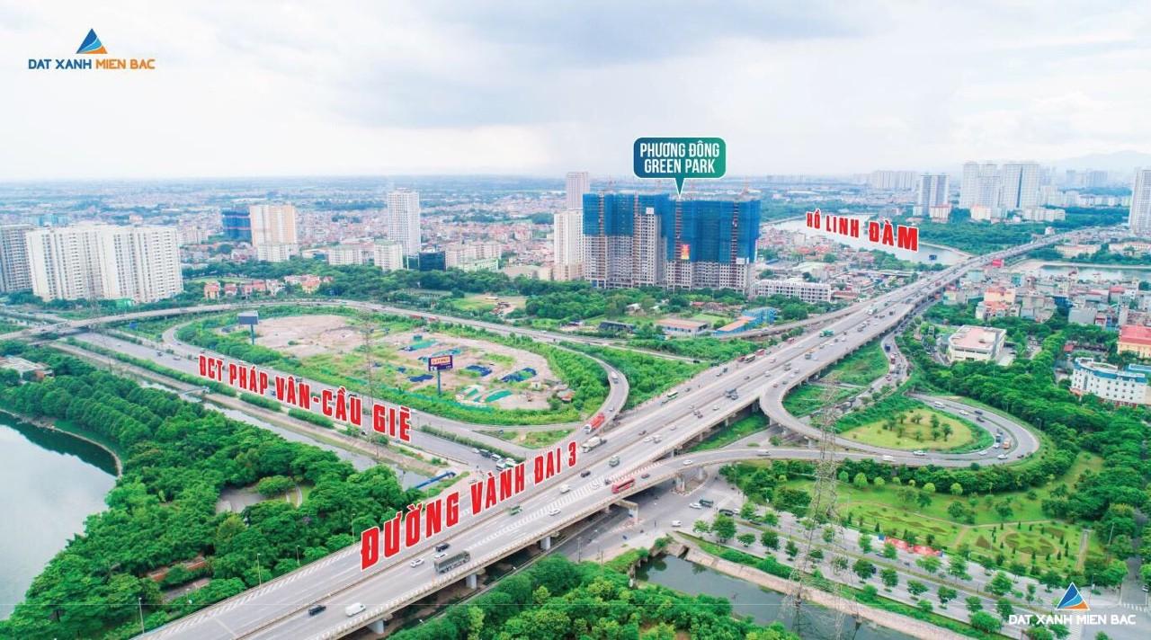 Chung cư Phương Đông Green Park di chuyển về Phía Nam và Phía Đông vô cùng thuận lợi
