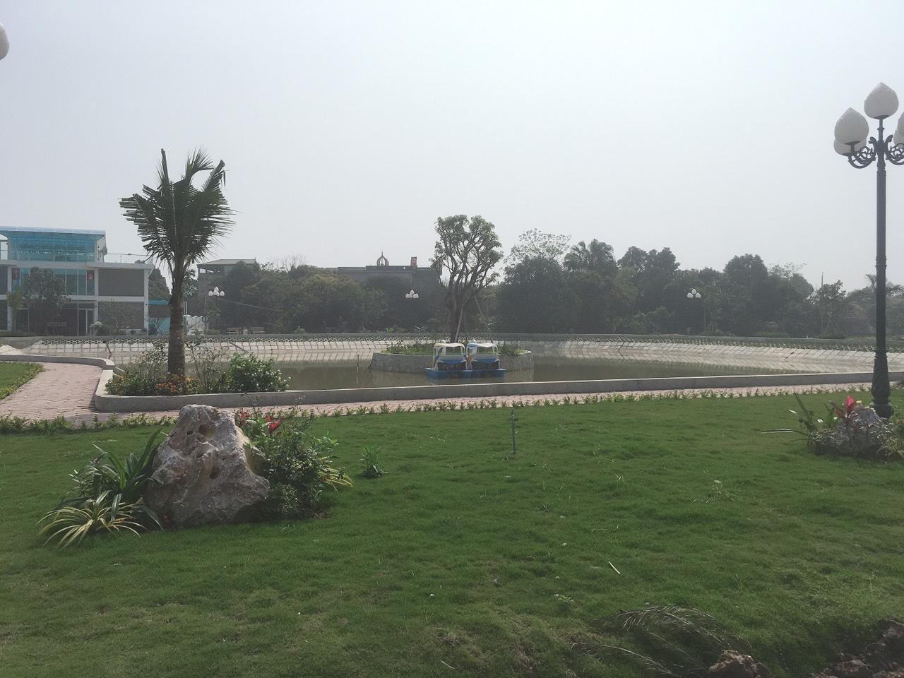 Cảnh quan xanh đang hình thành tại Khu đô thị Hưng Hòa Hà Nam