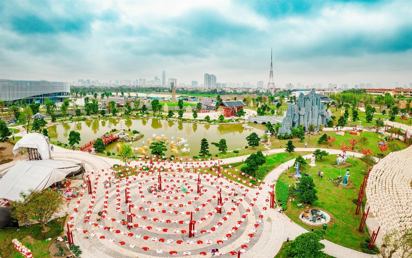 Ảnh thực tế Vườn Nhật tại Dự án Vinhomes Smart City