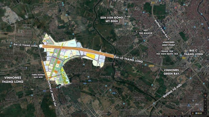 Vị trí Trung tâm Phía Tây của Imperia Smart City Tây Mỗ