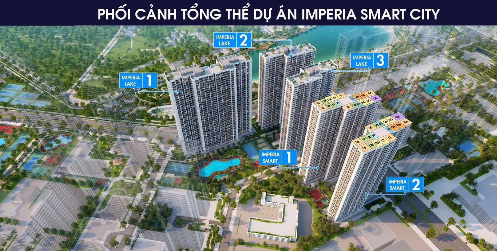 Phối cảnh Tổng thể Dự án MIK Imperia Smart City