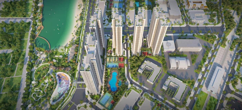 Flycam Dự án MIK Smart City trong Vinhomes Smart City
