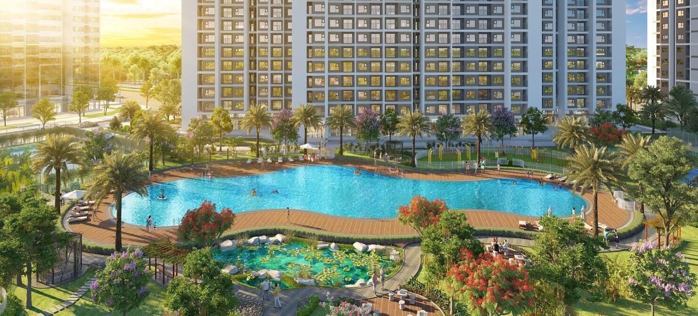 Bể bơi ngoài trời đẳng cấp số 1 tại Dự án Vinhomes Smart City