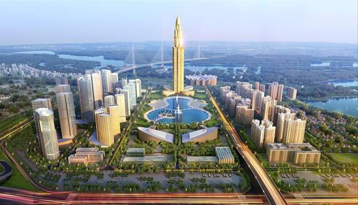 Thành phố Thông minh Bắc Hà Nội - Smart City Đông Anh với tầm điểm là Tháp 108 tầng Phương Trạch