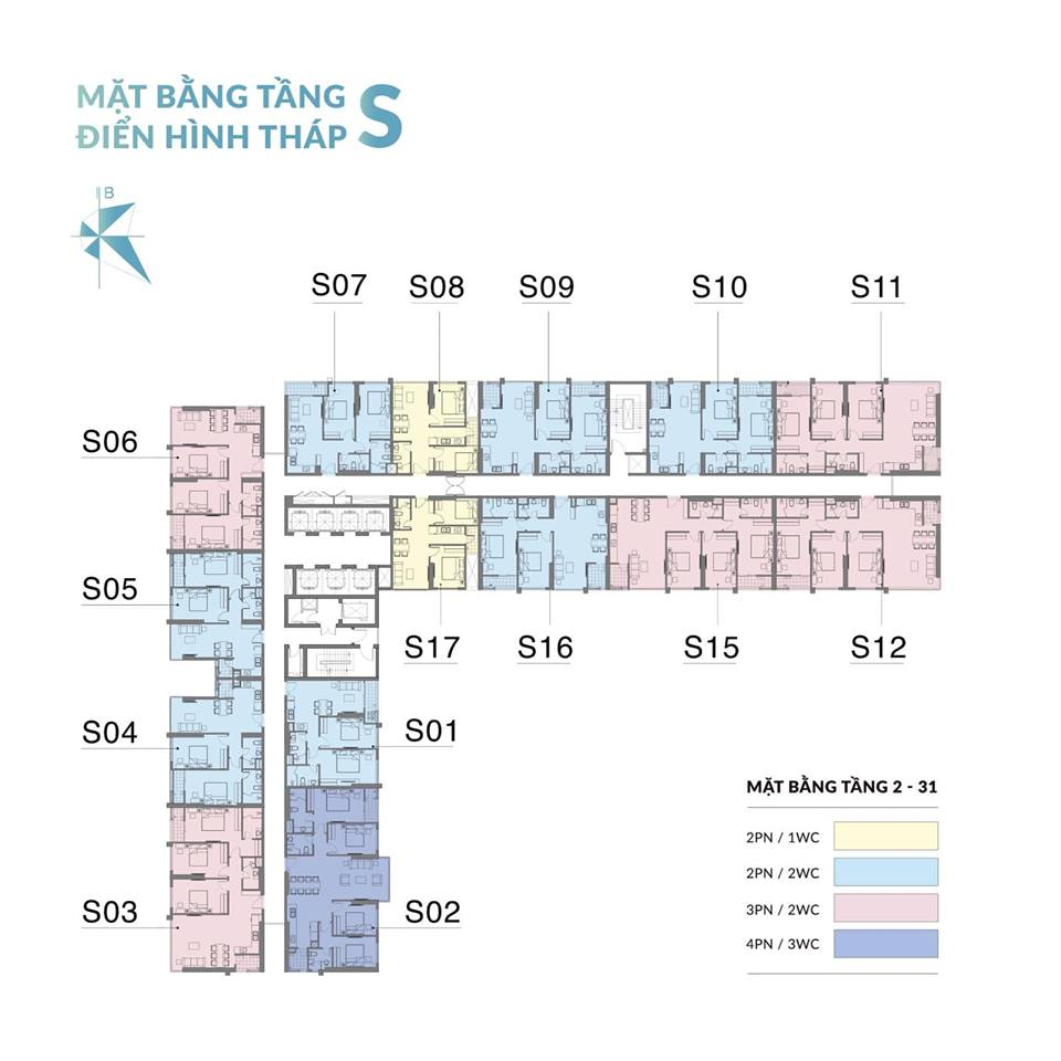 Mặt bằng Tháp S Dự án Mipec Rubik 360 Xuân Thủy cập nhật Tháng 11 năm 2019
