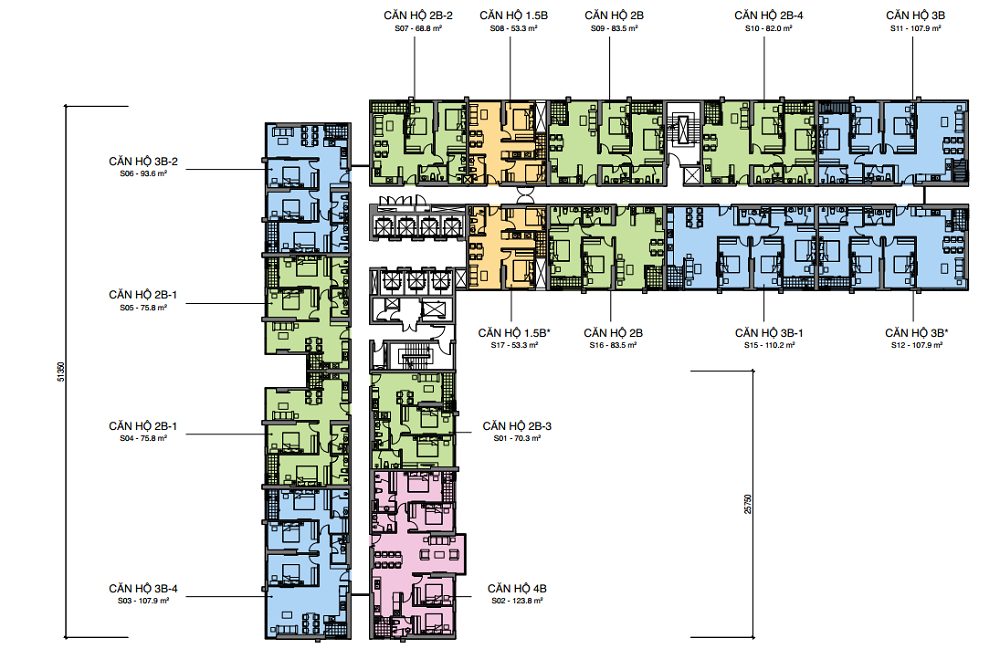 Mặt bằng Tháp S Dự án Mipec Rubik 360 Xuân Thủy cập nhật Tháng 12 năm 2019