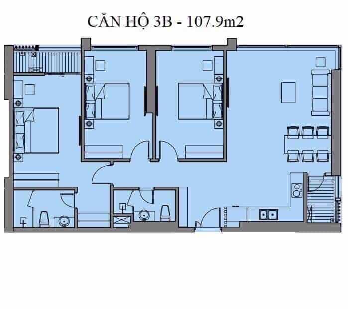 Căn hộ S03, S11 và S12 Tòa S Dự án Mipec Rubik 360 Xuân Thủy
